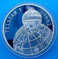 HUNGARY 500 F 1992 SILVER PROOF ARGENTO TELSTAR I SATELLITE SPACE MISSION WEIGHT 31,46g TITOLO 0,900 CONSERVAZIONE FONDO - Ungheria