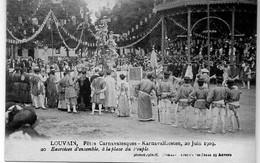 20. Leuven Carnavalsfeesten 20/6/1909 Exercices D'ensembles A La Place Du Peuple Phototupie Anvers - Leuven