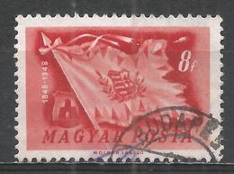 Hungary 1948. Scott #829 (U) Hungarian Flag * - Oblitérés