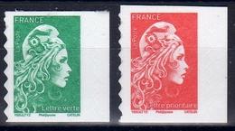 FRANCE 2018-19 / LES 2v MARIANNE L'ENGAGEE Adhésives De Carnet GUICHET N° 1598-1599  NEUFS...... - Francia