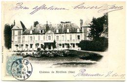 60510 Château De NIVILLERS - Carte Type Nuage Dos Simple - France