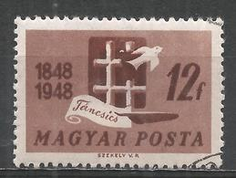Hungary 1948. Scott #831 (U) Barred Window And Dove * - Oblitérés