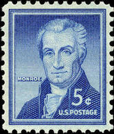1954 USA James Monroe Stamp Sc#1038 5th President  Famous History Post - Other