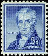 1954 USA James Monroe Stamp Sc#1038 5th President  Famous History Post - Celebrations