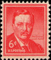 1955 USA Theodore Roosevelt Stamp Sc#1039? 26th President  Famous History Post - Celebrations