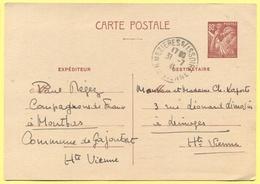 FRANCIA - France - 1941 - 80c Iris - Carte Postale - Intero Postale - Entier Postal - Postal Stationery - Viaggiata Da M - Biglietto Postale