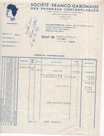 77 VILLENOY - MEAUX - Sté Franco-Gabonnaise Des Panneaux Contreplaqués - Facture Illustrée, 20 Octobre 1947 - Meaux