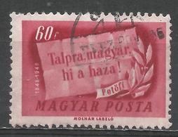 Hungary 1948. Scott #835 (U) ''On Your Feet Hungarian, The Homeland Is Calling'' * - Oblitérés