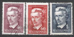 Hungary 1949. Scott #848-50 (U) Sàndor Petöfi ** Complet Set - Oblitérés