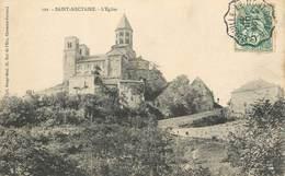 """CPA FRANCE 63 """"Saint Nectaire"""" / CACHET AMBULANT Le Mont Dore à Laqueille - Saint Nectaire"""