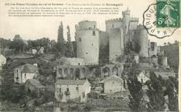 """CPA FRANCE 47 """"Chateau De Bonaguil"""" / CACHET AMBULANT Agen à Périgueux - France"""