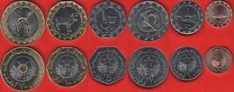 Mauritania Set Of 6 Coins: 1/5 - 20 Ouguiya 2017-2018 UNC - Mauritanië