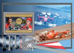 Guinea  2012  Champions Of Formula 1 ,racing Car ,Ayrton Senna & Michael Schumacher - Guinea (1958-...)