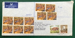 Zambia 1988 Cover Franked With Surcharged Local Traditional Dance - Zambia (1965-...)