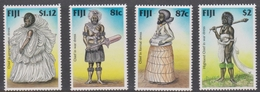 Fiji SG 1006-1009 1998 Chifs Costumes, Mint Never Hinged - Fiji (1970-...)