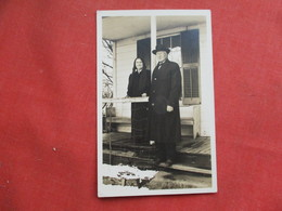 RPPC  Old Couple Named On Back    Ref 3256 - To Identify