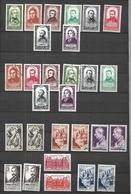 France 1947 -   1948   Lot     Célébrités  N** MNH  ET OBLITERES  CAT YT N° 795 à 802 ,803, 804,805,792,790 - Stamps