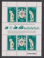 Fiji SG 549-551 1978 25th Anniversary Of Coronation Sheetle,mint Never Hinged - Fiji (1970-...)