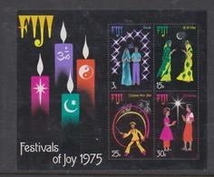 Fiji SG MS 525 1975 Festival Of Joy ,Miniature Sheet,mint Never Hinged - Fiji (1970-...)
