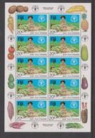 Fiji SG MS 619 1981 Food Sheetlet,mint Never Hinged - Fiji (1970-...)