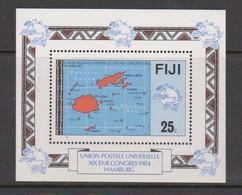 Fiji SG MS 679 1984 UPU Congress ,Miniature Sheet,mint Never Hinged - Fiji (1970-...)