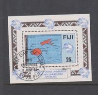 Fiji SG MS 679 1984 UPU Congress ,Miniature Sheet,used - Fiji (1970-...)