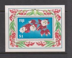 Fiji SG MS 757 1987 Flower  ,Miniature Sheet,mint Never Hinged - Fiji (1970-...)