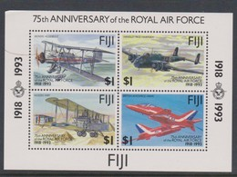 Fiji SG MS 877 1993 Air Force ,Miniature Sheet,mint Never Hinged - Fiji (1970-...)