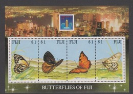 Fiji SG MS 889 1994 Butterflies MS Hong Kong 94,mint Never Hinged - Fiji (1970-...)