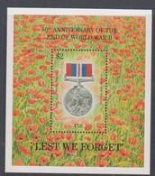Fiji SG MS 911 1995 End WW II ,Miniature Sheet,mint Never Hinged - Fiji (1970-...)
