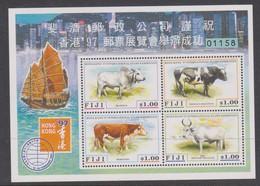 Fiji SG MS 975 1997 Year Of The Ox,Hong Kong 97 ,Miniature Sheet,mint Never Hinged - Fiji (1970-...)