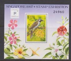 Fiji SG MS 976 1997 Cird Opted Singpex 97  ,Miniature Sheet,mint Never Hinged - Fiji (1970-...)
