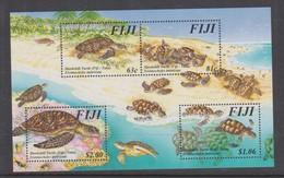 Fiji SG MS 981 Hawksbill Turtle ,Miniature Sheet,mint Never Hinged - Fiji (1970-...)