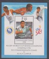 Fiji SG MS 1030 1998 Commonwealth Games ,Miniature Sheet,mint Never Hinged - Fiji (1970-...)