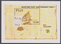 Fiji SG MS 1035 1998 Maritime Past And Present ,Miniature Sheet,mint Never Hinged - Fiji (1970-...)