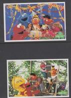 Fiji SG MS 1092 2000 Sesame Street  ,Miniature Sheet,mint Never Hinged - Fiji (1970-...)
