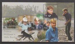 Fiji SG MS 1101 2000 Prince William 18th Birthday ,Miniature Sheet,mint Never Hinged - Fiji (1970-...)
