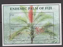 Fiji SG MS 1106 2000 Endemic Palm ,Miniature Sheet,mint Never Hinged - Fiji (1970-...)