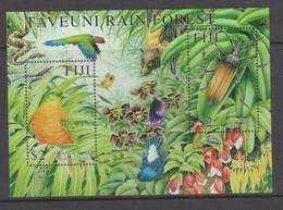 Fiji SG MS 1115 2001 Taveuni Forest,Miniature Sheet,mint Never Hinged - Fiji (1970-...)