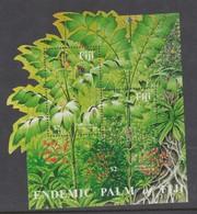 Fiji SG MS 1157 2002 Endemic Palm ,Miniature Sheet,mint Never Hinged - Fiji (1970-...)