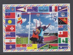 Fiji SG MS 1195 2003 South Pacific Games ,Miniature Sheet,mint Never Hinged - Fiji (1970-...)
