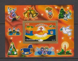 Fiji SG MS 1214 2003 Christmas ,Miniature Sheet,mint Never Hinged - Fiji (1970-...)