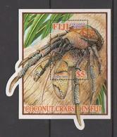 Fiji SG MS 1242 Coconut Crab ,Miniature Sheet,mint Never Hinged - Fiji (1970-...)