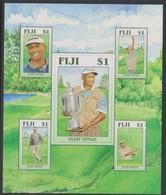 Fiji SG MS 1320 2006 Vijay Singh ,Miniature Sheet,mint Never Hinged - Fiji (1970-...)