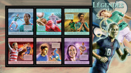 Guinea  2012  Sports Legends Summer 2012 VI, (Football) - Guinée (1958-...)