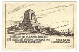 Rumänien (Romania), Rimnicul-Sarat, Denkmal Der 12. Bayr. Inf. Div., Gefallenen Kamraden, Soldaten, 1916, Feldpostkart - Rumania