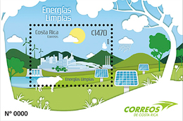 MNH SHEET COSTA RICA, New Issue 2019 Energy Cow - Costa Rica