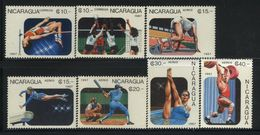 MNH Set Nicaragua 1987 Sports Volleyball Beisball Run - Nicaragua