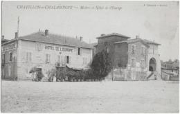 CHATILLON-SUR-CHALARONNE - MAIRIE ET HOTEL DE L'EUROPE - VERS 1900 - Châtillon-sur-Chalaronne