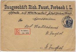 Bayern - 25 Pfg. Ludwig Friedensdruck Ortsbrief Einschreiben St. Ingbert 1914 - Bayern